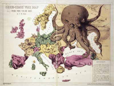 Serio-Comic War Map (Rose, 1877)