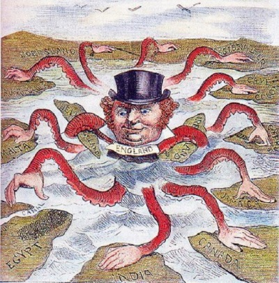 John Bull (England) as octopus of imperialism (1888)